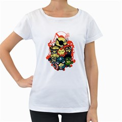 Despicable Avengers Women s Loose-Fit T-Shirt (White)