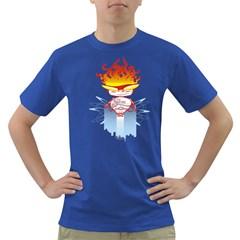 Captain Flame Men s T-shirt (Colored)