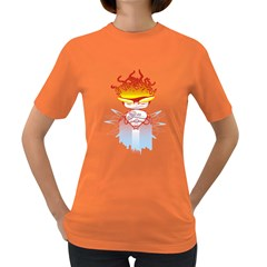 Captain Flame Women s T-shirt (Colored)
