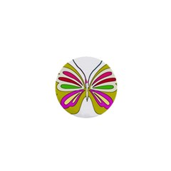 Color Butterfly  1  Mini Button Magnet