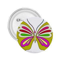 Color Butterfly  2.25  Button