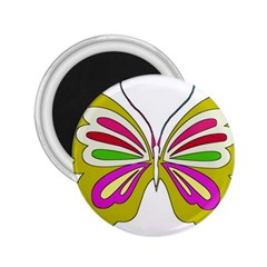 Color Butterfly  2 25  Button Magnet