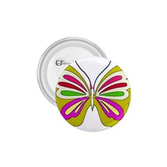 Color Butterfly  1.75  Button