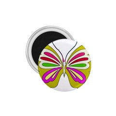 Color Butterfly  1.75  Button Magnet