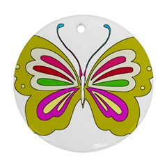 Color Butterfly  Round Ornament