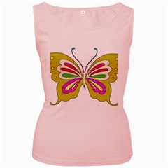 Color Butterfly  Women s Tank Top (pink)