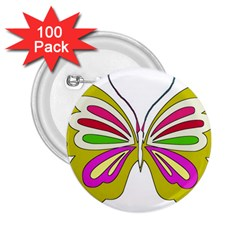 Color Butterfly  2.25  Button (100 pack)