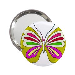 Color Butterfly  Handbag Mirror (2.25 )