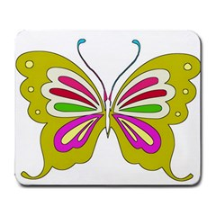 Color Butterfly  Large Mouse Pad (Rectangle)