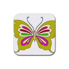 Color Butterfly  Drink Coasters 4 Pack (Square)