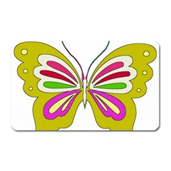 Color Butterfly  Magnet (rectangular)