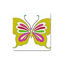 Color Butterfly  Magnet (square)