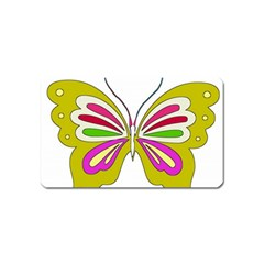 Color Butterfly  Magnet (Name Card)