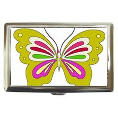 Color Butterfly  Cigarette Money Case