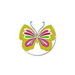 Color Butterfly  Golf Ball Marker 4 Pack