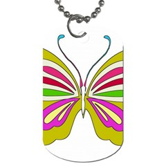 Color Butterfly  Dog Tag (two Sided)