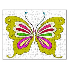 Color Butterfly  Jigsaw Puzzle (Rectangle)