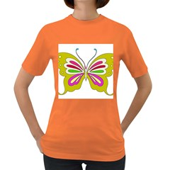 Color Butterfly  Women s T-shirt (Colored)