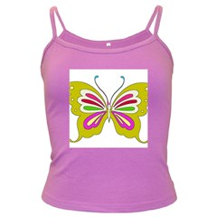 Color Butterfly  Spaghetti Top (Colored)