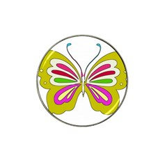 Color Butterfly  Golf Ball Marker 4 Pack (for Hat Clip)