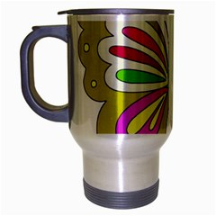 Color Butterfly  Travel Mug (silver Gray)