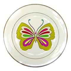 Color Butterfly  Porcelain Display Plate