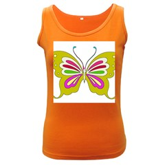 Color Butterfly  Women s Tank Top (dark Colored)