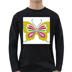 Color Butterfly  Men s Long Sleeve T-shirt (Dark Colored)