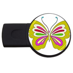 Color Butterfly  4gb Usb Flash Drive (round)
