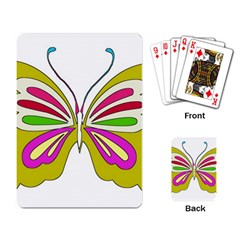 Color Butterfly  Playing Cards Single Design