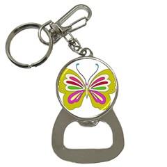 Color Butterfly  Bottle Opener Key Chain