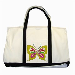 Color Butterfly  Two Toned Tote Bag