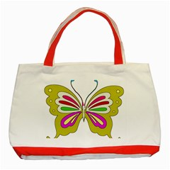 Color Butterfly  Classic Tote Bag (red)