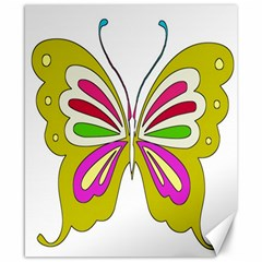 Color Butterfly  Canvas 8  x 10  (Unframed)