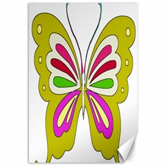 Color Butterfly  Canvas 12  x 18  (Unframed)