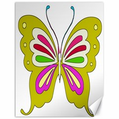 Color Butterfly  Canvas 18  x 24  (Unframed)