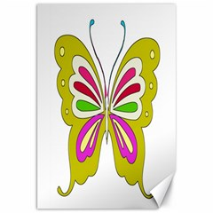 Color Butterfly  Canvas 20  x 30  (Unframed)