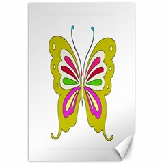 Color Butterfly  Canvas 24  X 36  (unframed)
