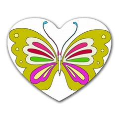 Color Butterfly  Mouse Pad (heart)
