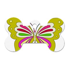 Color Butterfly  Dog Tag Bone (two Sided)