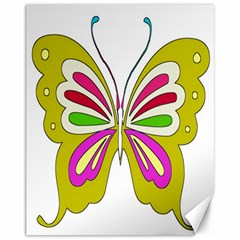 Color Butterfly  Canvas 11  x 14  (Unframed)