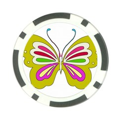 Color Butterfly  Poker Chip