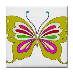 Color Butterfly  Face Towel