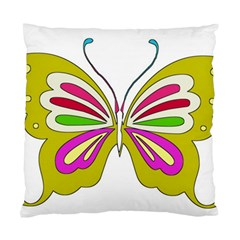 Color Butterfly  Cushion Case (single Sided)