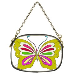 Color Butterfly  Chain Purse (two Sided)