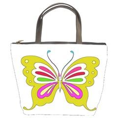 Color Butterfly  Bucket Handbag