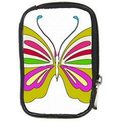 Color Butterfly  Compact Camera Leather Case