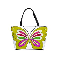 Color Butterfly  Large Shoulder Bag
