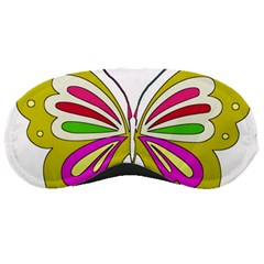 Color Butterfly  Sleeping Mask