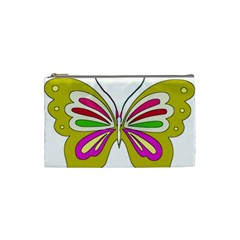 Color Butterfly  Cosmetic Bag (Small)